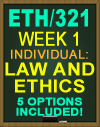 ETH/321 THE ROLE AND FUNCTIONS OF LAW