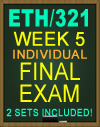 ETH/321 FINAL EXAM WEEK 5 2018