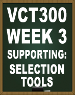 VCT300 PHOTOSHOP SELECTION TOOLS