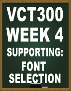 VCT300 FONT SELECTION